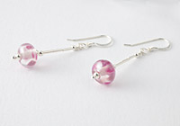 Pink Lampwork Earrings