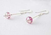 Pink Lampwork Earrings