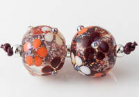 Dichroic Flowery Lampwork Beads