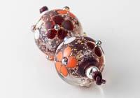 Dichroic Flowery Lampwork Beads alternative view 1