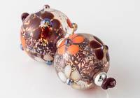 Dichroic Flowery Lampwork Beads alternative view 2