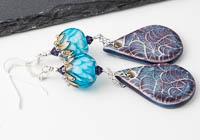 Dahlia and Ceramic Earrings alternative view 1