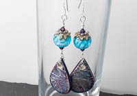 Dahlia and Ceramic Earrings alternative view 2