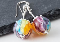 Rainbow Dahlia Earrings