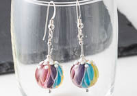 Rainbow Dahlia Earrings alternative view 1