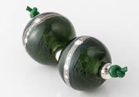 Dark Green Lampwork Beads alternative view 2