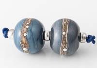 Navy Lampwork Beads