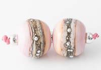 Pink Lampwork Beads
