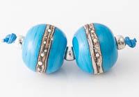 Turquoise Lampwork Beads