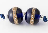 Blue Lampwork Beads