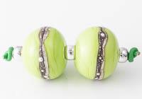 Lime Lampwork Beads