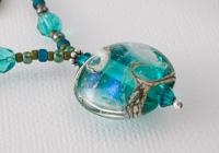 Dichroic Lampwork Pendant Necklace