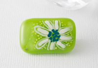 Hand Painted Fused Flower Brooch