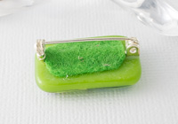 Hand Painted Glass Fused Brooch alternative view 1