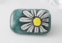 Hand Painted Fused Flower Brooch