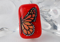 Hand Painted Fused Butterfly Brooch