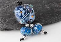 Lampwork Flowery Bead Set