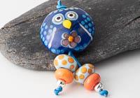 Owl Lampwork Bead Set