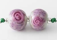 Lampwork Rose Beads