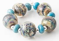 Webbed Lampwork Beads