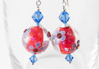 Flowery Dichroic Earrings