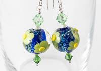 Flowery Dichroic Earrings alternative view 1