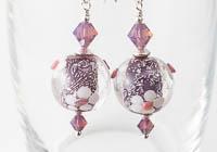 Flowery Dichroic Earrings
