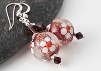 Flowery Dichroic Earrings alternative view 1