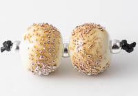 Amber Lampwork Beads