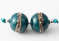 Teal Lampwork Beads