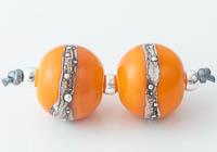 Orange Lampwork Beads