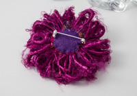 Pink Silk Flower Brooch alternative view 1