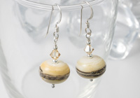 Ivory Lampwork Earrings