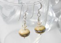 Ivory Lampwork Earrings