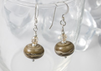 Brown Lampwork Earrings