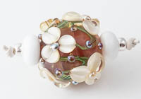 Flowery Lampwork Bead Set