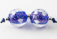 Dichroic Lampwork Heart Beads
