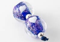 Dichroic Lampwork Heart Beads alternative view 1