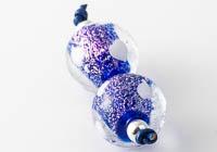 Dichroic Lampwork Heart Beads alternative view 2