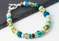 Spring Lampwork Bracelet