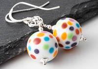 Spotty Lampwork Earrings