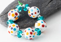 Spotty Lampwork Beads