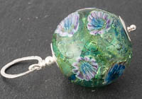 Flower Lampwork Pendant Necklace