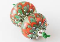 Lampwork Dahlia Beads alternative view 2