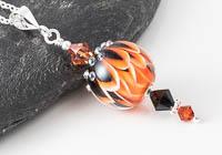 Lampwork Dahlia Pendant
