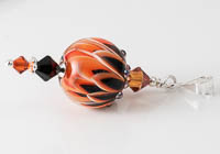 Lampwork Dahlia Pendant alternative view 2