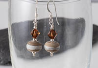 Brown Tumbled Lampwork Earrings alternative view 1