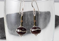 """Amara"" Lampwork Earrings alternative view 1"