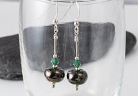 Metallic Green Lampwork Earrings alternative view 1