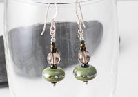 Smoky Quartz Lampwork Earrings alternative view 1